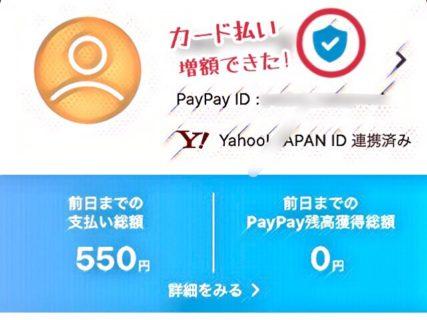 PayPayでクレジットカード払いする時の上限額を1日で増やせた話。4つの設定をするだけで…