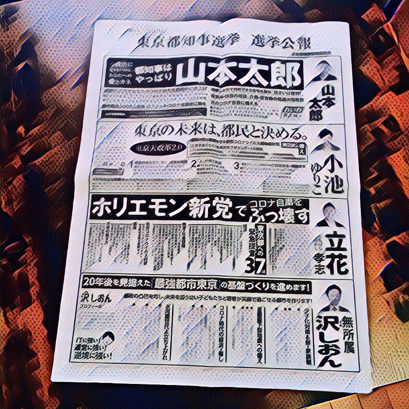 東京都知事選2020年候補者比較2 選挙公報はスペースが限られるので、言いたい事全ては載せられない