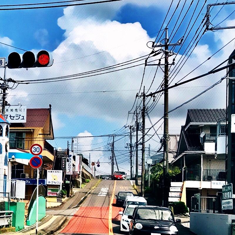 千葉県柏市の風景 3 - 坂を上る