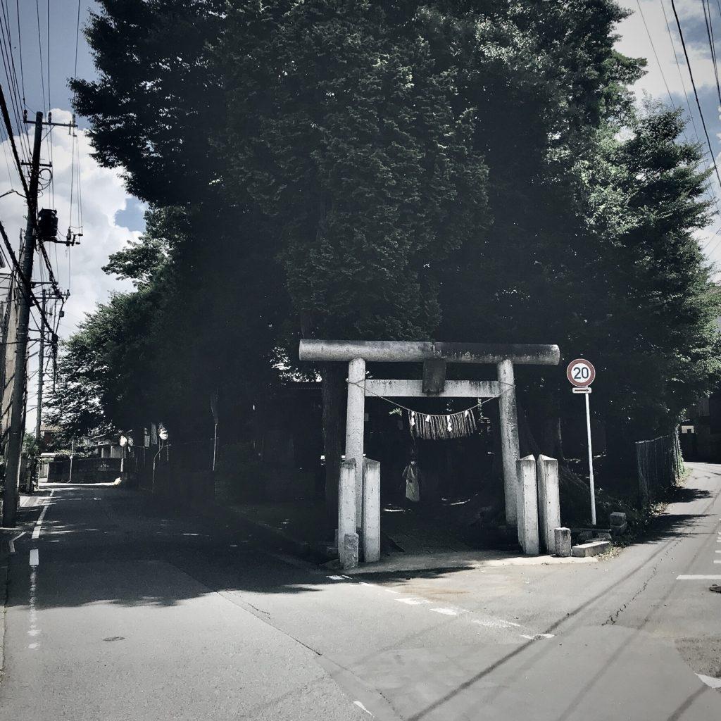 千葉県柏市の風景 coten用 2 住宅地にある神社