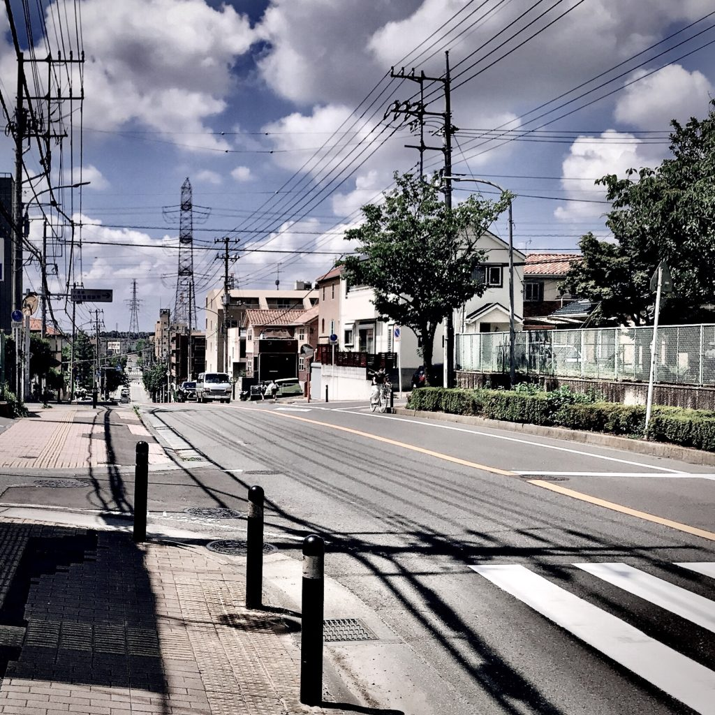 千葉県柏市の風景 coten用1 夏の青空