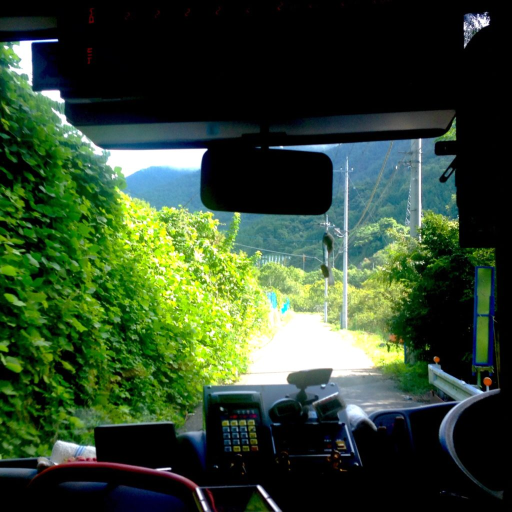 おでかけ 西沢渓谷 (山梨県山梨市) に行ってきた A 1 バス車窓