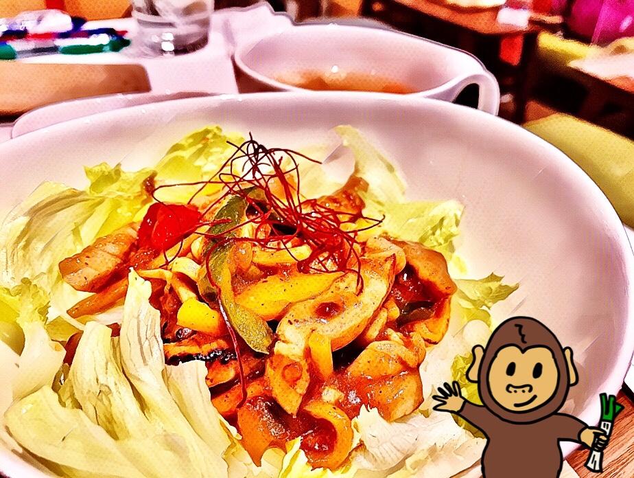 山手線大塚駅のカフェ coco de tea で、青椒肉絲おこわ丼を食べたよ